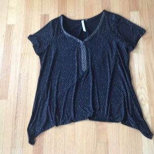 Tops - NY Collection sparkly top size 1x